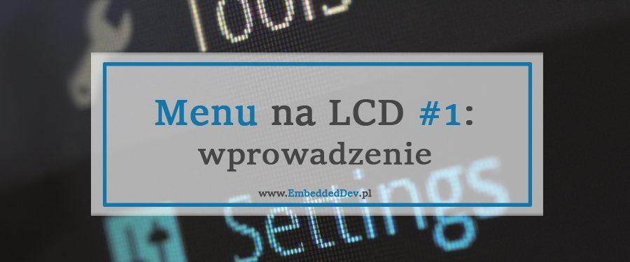 Menu na LCD