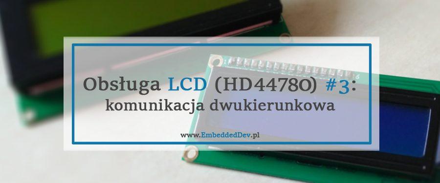 Obsługa LCD HD44780 z odczytem busy flag