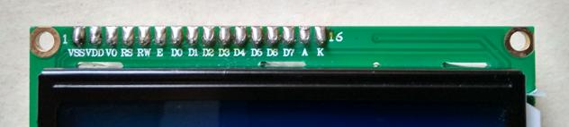 Wyprowadzenia LCD HD44780